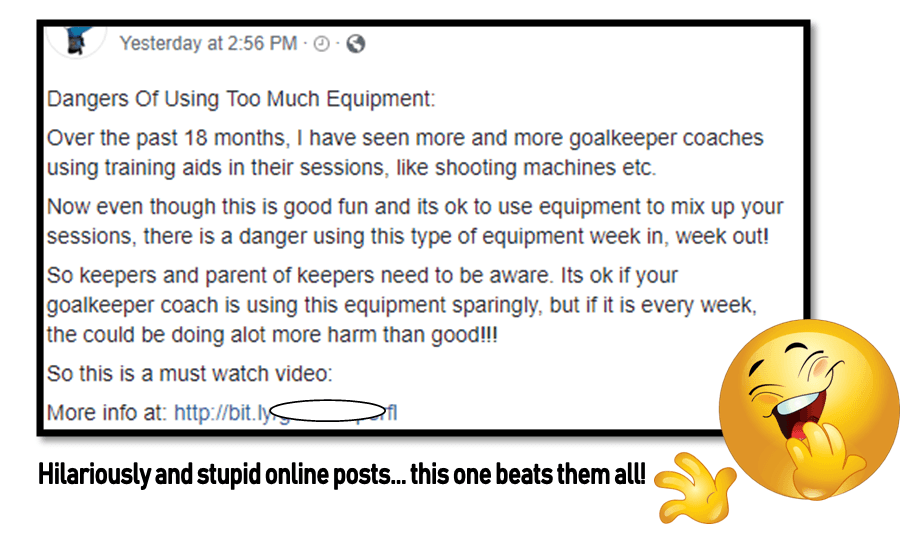 Bad goalkeeper coaches